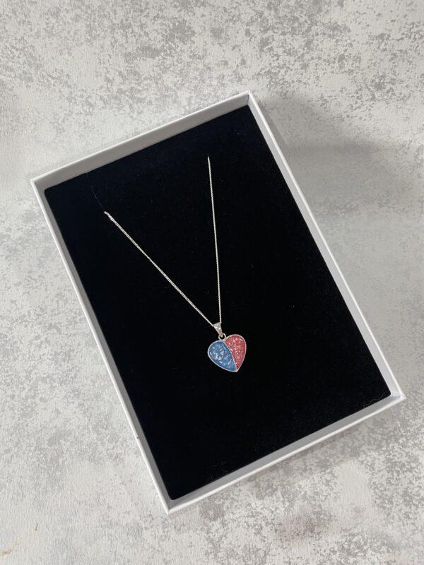split heart keepsake necklace